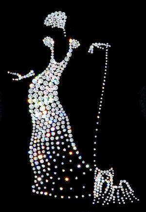 Платье для бальных танцев - немного об украшении камнями.
