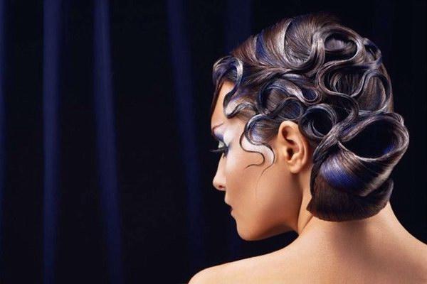 Причёска для спортивных бальных танцев.